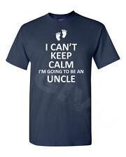 Men's I Can't Keep Calm I'm Going To Be An Uncle Shirt New Baby Gift Present Tee