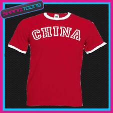 China De Timbre Retro divertida camiseta