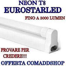 PLAFONIERA completa DI NEON LED Eurostarled TUBO T8  60-90-120-150 CM 220V
