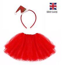SANTA BOPPER TUTU COSTUME Kids Ladies Girls Christmas Party Fancy Skirt Dress UK