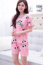 Ladies Pink Yankee Micky Mouse T-shirt & Bottom Stripes Pyjamas Pajamas ladpj85