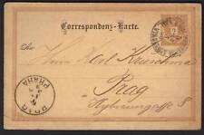 AUSTRIA-CZECHOSLOVAKIA 1890 KONIG WEINBERGE TO PRAHA