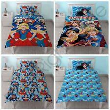 DC Super Héros filles Set Housse de couette simple enfants Parure lit réversible