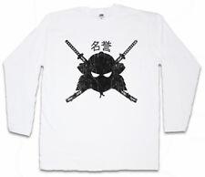 SAMURAI MEIYO Manica lunga T-shirt SAMURAI NINJA GIAPPONE Warrior dakana spada degli armamenti