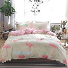 Quilt/Doona/Duvet Cover Set Single/Double/Queen/King Bed 100% Cotton Flamingo