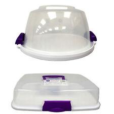 WILTON IN PLASTICA Torta E Cupcake che trasportano CADDY con manico e base reversibile