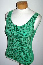 Vintage Exterior Erez Green Sequin Disco Club Wear Lycra Crop Tank Top Large