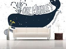 3D Süßen Schwarzen Wal 767 Fototapeten Wandbild Fototapete BildTapete Familie DE