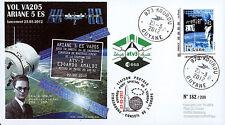 "VA205LT1 FDC KOUROU ""ARIANE 5 ES Rocket - Flight 205 / ATV-3 / ARMSTRONG"" 2012"