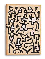 Lein-Wand-Bild Kunstdruck: Paul Klee - Das Flugblatt des Komödianten (1938)