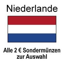 Niederlande - alle 2 Euro Sondermünzen Gedenkmünzen - alle Jahre - bankfrisch