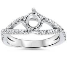 3/8ct 14K White Gold Diamond Engagement Ring Semi Mount