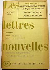 REVEL/SCHULZ../NADEAU/LETTRES NOUVELLES/1959/N°19