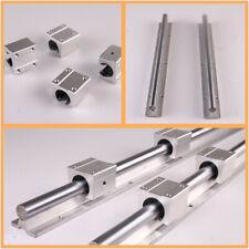 2X SBR16 300-1500mm Fully Supported Linear Rails Shaft Rod with 4X SBR16UU