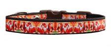 "Brown  ""Fox & Hound ""  medium breed dog puppy collar or &  lead set  19mm"