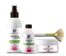 Glycolic Acid Chemical Skin Peel Kit + Peel Neutralizer + Recovery Cream + BRUSH