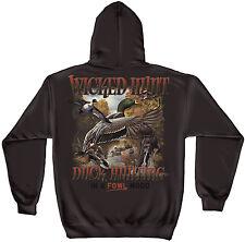 Erazor Bits Hooded Sweatshirt Sweater Hoodie Wicked Hunt Duck Hunting Brown