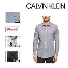 SALE! Calvin Klein Men's Slim Fit Wrinkle Res Button Up Shirt VARIETY SIZE COLOR
