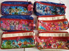 School Exam Pencil Pen Case Bag Pouch Make up net Travel bag accessories Disney