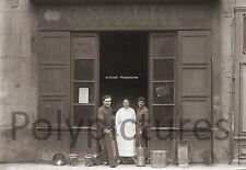 Photo ancien commerce Toulouse Ferblantier ustensile en fer tirage repro an.1920