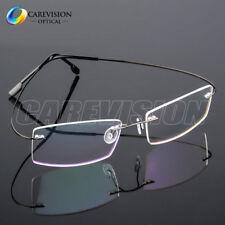 Flexible Memory Titanium-Alloy Rimless Eyeglasses Frames Optical Eyewear RX Able