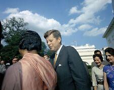 President John F. Kennedy with Lakshmi Menon India Minister 1963 Photo Print