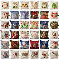 Christmas Xmas Santa Sofa Car Throw Cushion Pillow Cover Case Home Decor Gifts