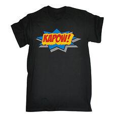 KAPOW T-SHIRT tee comic retro boom nerd geek tv cartoon funny birthday gift 123t