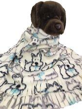White Highlander Dog,Fuzee Fleece Dog Blankets,Soft Pet Blanket Travel Throw