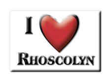 SOUVENIR UK WALES ANGLESEY SIR FON FRIDGE MAGNET UK I LOVE RHOSCOLYN (CYM)--