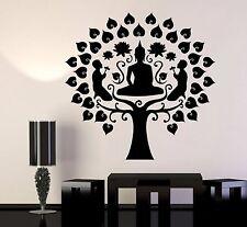 Vinyl Wall Decal Buddhism Buddha Meditation Tree Stickers (411ig)