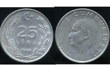 TURQUIE  25  lira 1988  ( bis )