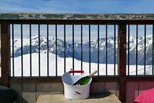 Alpe d'Huez ski resort Rhone Alps France photograph picture poster art print