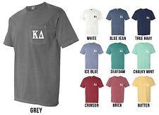 Kappa Delta Sorority Letters COMFORT COLORS POCKET Shirt - NEW