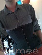New full acier baleiné serré lacets homme corset ceinture posture support