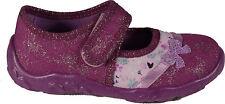 SUPERFIT Schuhe Hausschuhe lila (RASBERRY) Glitzer Textil Klettverschluss NEU