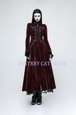 New PUNK RAVE Gothic Victorian Aristocrat Red Velvet Jacket Coat Y776 AU STOCK