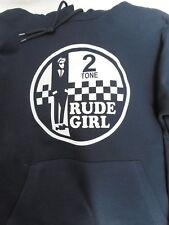 Rude Girl en dos tonos señoras con capucha azul marino Scooter Retro Lambretta Vespa Mod
