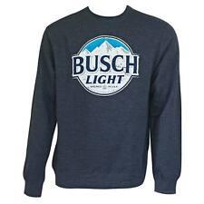Busch Light Navy Crewneck Sweatshirt Blue