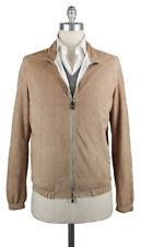 New $2400 Luigi Borrelli Brown Suede Solid Jacket - (LBG160661)