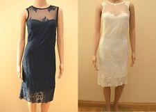 New Next Ivory Cream Mesh Embroidered Dress Sz UK 8 & 12  petite