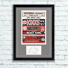 The Kinks Concert Poster Autographs Memorabilia Poster Portsmouth 1965 UNFRAMED