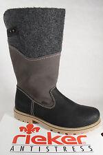 Rieker Z1474 Stiefel Siefeletten Boots, schwarz, Schurwollfutter, Riekertex NEU