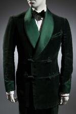 Men's Party Wear Green Two Button Smoking Tuxedo Blazer Jacket Scotch Collar