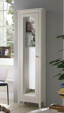Massivholz Bad-Hochschrank Kiefer massiv weiß lasiert Flur schrank mit Spiegel