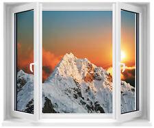 Sticker fenêtre trompe l'oeil les Alpes réf 703