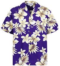 PLA Original Hawaiihemd für Herren Golden Blume Violett