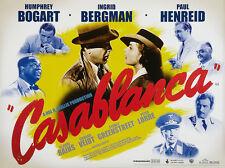 Home Wall Art Print - Vintage Movie Film Poster - CASABLANCA - A4,A3,A2,A1