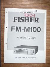 Service-Manual für Fisher FM-M100 Tuner, ORIGINAL!