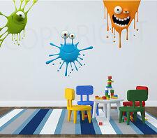 Paint Splatter Kids Fun Wall Art Sticker Decal Transfer Bedroom Playroom Nursery